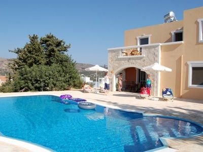 Photo for Stunning 3 bedroom villa near Almyrida with large pool, sea and mountain views