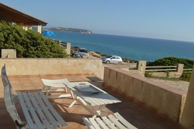 View of the sea from the terrace of the house