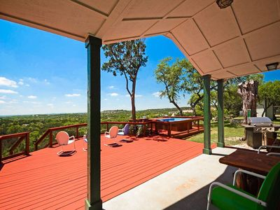 Photo for Tawnya's Secret Hideaway Enjoying an Incredible 20 mile Hill Country View!