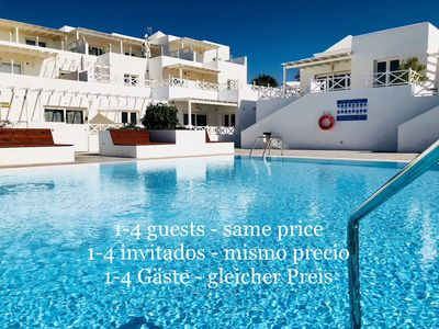 Photo for Apartment Mariposa with pool, 200m from the beach