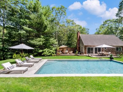 Photo for Stylish East Hampton House with Pool and Lush Garden