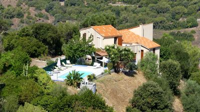 Photo for VILLA heights of Ajaccio on 9500 m2 of land - private SWIMMING POOL - Salario