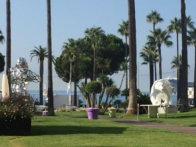 Photo for Apartment Croisette, Grand Hotel, Wifi, Air-conditioned, Elevator, Terrace 18M2
