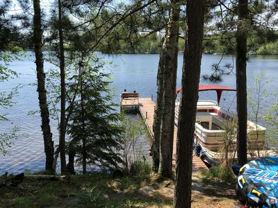 Photo for Beautiful Lakefront Cottage Just Steps From The Water On Keyes Lake