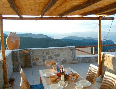 Photo for Traditional restored village house with spectacular sea views