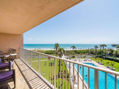Photo for Direct Ocean Views from this Updated Cocoa Beach Condo with Heated Pool, Near Dining & Attractions