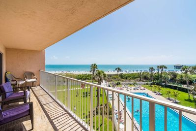 Unobstructed direct ocean front views available from the comfort of your private balcony.