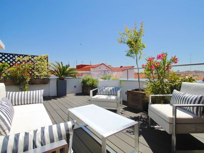 Photo for Luxury penthouse with large terrace and views of the center of Madrid with WIFI