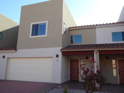 Front of Townhouse. Close to town, easy to find and access.
