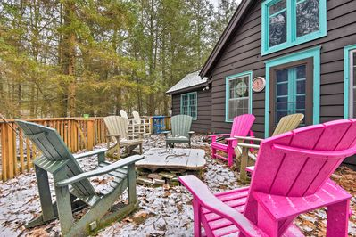 Recharge at this secluded vacation rental cabin after outdoor activities.