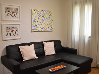 Photo for Modern apartment in Calle Alcala // large living room, 2 bedrooms and WIFI