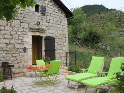Photo for Independent stone house overlooking the medieval town of Sainte Enimie