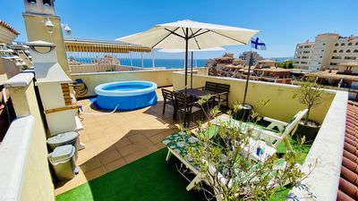 Photo for AMAZING PENTHOUSE TWO PRIVATE TERRACES / BBQ / TVSAT / WIFI / PARKING / SWIMMINGPOOL / AACC