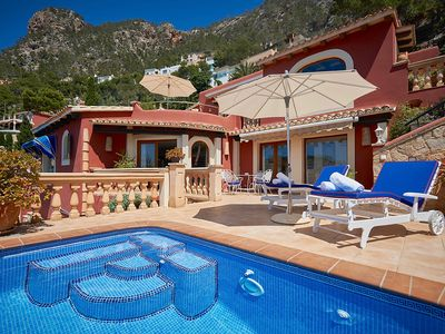 Photo for Great apartment house on Mallorca with private pool and sea views