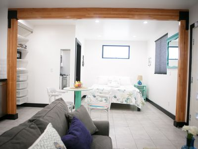 Photo for Beachfront Studio Apartment in Belmont Shore Long Beach, CA with Parking