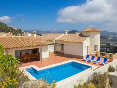 Photo for Magnificent villa in Spain for 10 with sea view in Calpe on the Costa Blanca