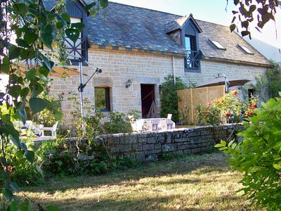 Photo for Gite, 750m from the beach in a renovated farmhouse in the heart of the Gulf of Morbihan