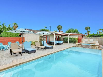 Photo for 3BR/2BA Front yard Pool/ Jacuzzi W Mountain Views in the center  Palm Springs
