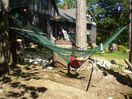 Hammock next to fire pit.  Great place to star gaze at night.  Amazing stars.