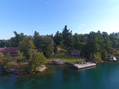 Aerial view of property taken by a drone from one of our renters.