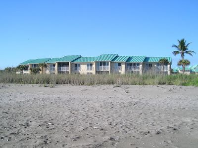 Condo from Private Beach. We are just right of center. All faced ocean.