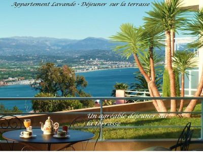 Photo for 2 rooms, panoramic sea view, private parking, swimming pool