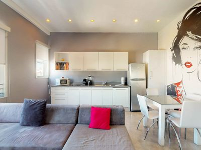 Photo for NEW LISTING! Swanky studio w/ easy access to dining & the beach 2 blocks away