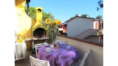 Photo for Big Apartment with Terrace & Barbecue - Residence with Private Pools and Garden