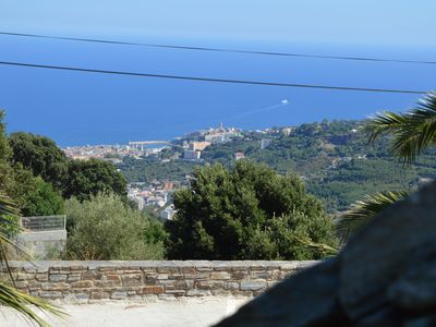 Photo for Duplex with terrace, sea view located in a village 1 km from the center of Bastia.