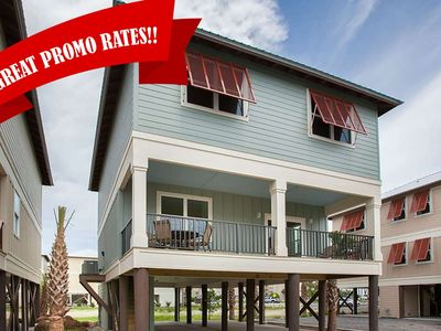 Photo for Newly built cottage in the heart of Gulf Shores | Outdoor pool, Wifi, BBQ, Deeded beach access