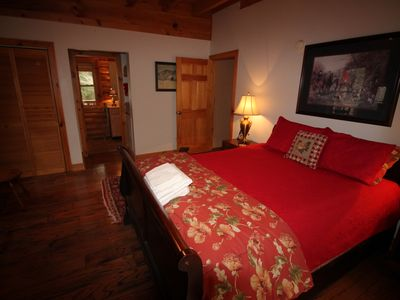 Photo for BEAUTIFUL LOG CABIN 3/2. CREEK, CLOSE TO MOUNT MITCHELL, 45 MINUTES TO ASHEVILLE
