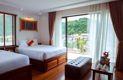Photo for Spacious room with 2 queen beds and large balcony in Sapa Town
