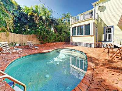 Photo for Tropical 3BR Home w/ Game Room, Pool & Sun Porch - 7 Blocks to Beach