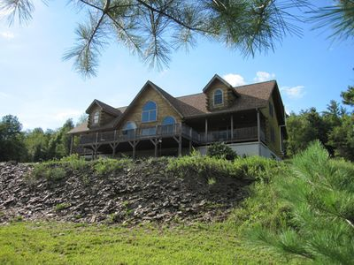 Photo for Massive Log Home near Blue Mountain