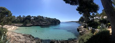 Panoramic views from Cala d´Or beach and the Bay from the villa.