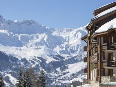 Photo for Back skier and parking at the foot of the slopes Valmorel view 180