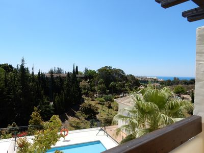 Photo for Modern spacious apartment with garage parking, air con, 2 terraces and pools