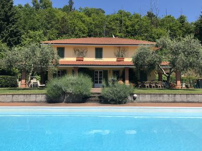 Photo for Exclusive Villa with pool, free Wi-Fi, BBQ, near the Cinque Terre beaches