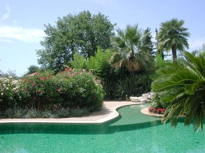 Photo for Lou Gourg, lovely villa with stunning pool in a charming hamlet 15 km from Nice