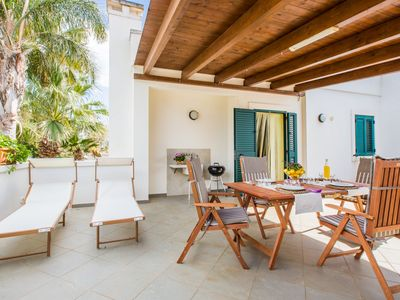 Photo for Modern house with big patio and terrace - PRIVATE BEACH INCLUDED