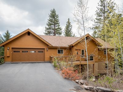 Photo for LUX designer home w/ lakeview & hot tub, near Tahoe City, walk to beach