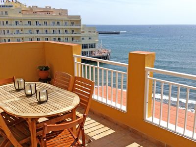 Photo for Impressive 3 bedroom penthouse, in front of the beach in El Médano