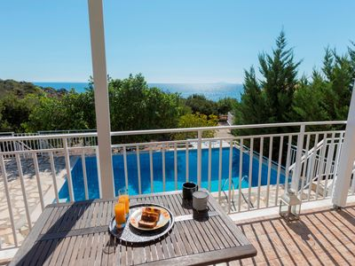 Photo for 'Wonderful Villa Sabrina Kefalonia, 3 BEDROOMS, 2 BATHROOMS nice garden, wonderful sea view, private swimming pool !
