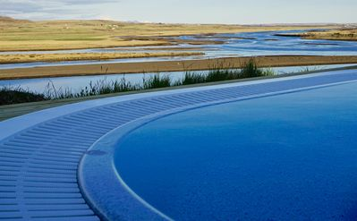 Photo for Luxury, Modern, HotTub with Fantastic River / Mountain View on the Golden Circle