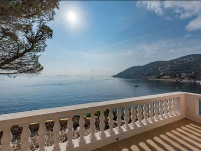 Photo for Villa with private beach and jacuzzi - Terrace and exceptional view