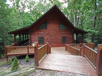 Photo for Double Pine Lodge with Hot Tub, Wrap-Around Deck, Fireplace, in Hocking Hills