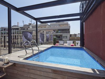Photo for Apartment Barcleona Rentals - Pool apartment near the Born for groups for 8 pax
