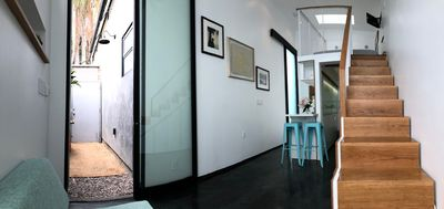 Photo for CUSTOM LOFT w PRIVATE COURTYARD/ENTRANCE & PARKING AVAILABLE 5 steps from door