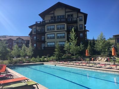 Photo for Ski In/Ski Out Top Floor Updated w Views-Ski Granby: Heated Parking-Hot Tub-Pool