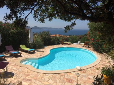 Photo for HOUSE IN RUPPIONE 3 BEDROOMS, SWIMMING POOL, 5MN FROM THE SEA, GULF VIEW FROM THE RUPPIONE
